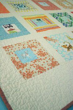 A cute fussy cut quilt