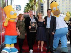 Craidor de Simpsons ganha estrela na calçada da fama após episódio nº 500