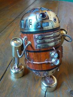 Steampunk Star Wars R2-D2. cool.
