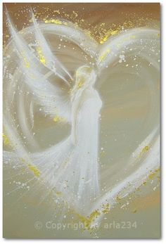 Limited angel art photo modern angel painting by HenriettesART