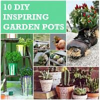 10 DIY Inspiring Garden Pots | Daily source for inspiration and fresh ideas on Architecture, Art and Design