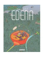 """The world of Edena / written and illustrated by Jean """"Moebius"""" Giraud. A sumptuous collection of French comics legend Moebius's Edena story. When interstellar mechanics Stel and Atan find themselves on the paradise planet Edena, their technology-driven lifestyle is slowly replaced by an almost forgotten, organic notion of humanity--including love. Moebius's foray into the """"ligne claire"""" (clean line) style, matched with his phenomenal use of pastels, has never been shown to better effect."""