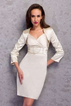 Fantastic Sheath/Column V-Neck Knee-Length Renata's Mother of the Bride Dress
