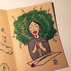 Mico_L on Instagram  She is a stoner Weed • Weedlover • Drawing