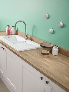 Natural Blocked Oak | Kitchen Worktops | Bushboard