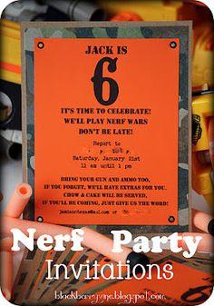 Nerf Party invite!