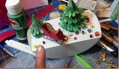 Vintage Christmas Diorama! #eCraft, #eBosser