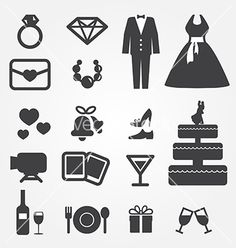 Illustration of wedding icons vector art, clipart and stock vectors. Wedding Icons, Wedding Dj, Free Wedding, Wedding Cards, Movie Wedding, Free Vector Images, Vector Free, Doodle Wedding, Circle Infographic
