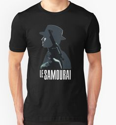 Le Samourai - Alain Delon le samouraï der eiskalte engel jean pierre meville french cinema T-Shirt Design von adriangemmel