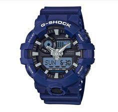 CRAZY WEEKEND DEAL G-SHOCK GA700-2A BLUE SUPER ILLUMINATOR ANA-DIG XL MENS WATCH