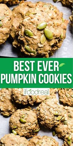 Healthy Pumpkin Cookies are soft on the inside, crunchy on the outside and come together in one bowl without a mixer. These cookies are seriously easy, delicious and a favorite for kids!