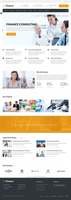 Finance is best Bootstrap HTML5 Template for #corporate #website like Financial Advisor, Accountant, #Consulting Firms, insurance, loan, tax help, Investment #firm etc.