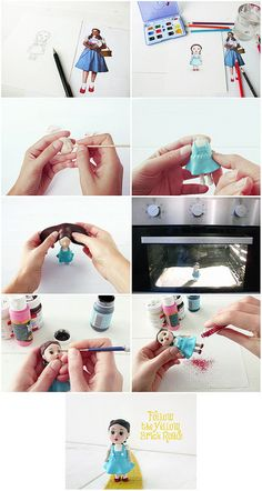 Making a figure with polymer clay