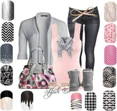 Jamberry nails - Nail art made easy Jamberry Nail Wraps - Buy 3 get 1 free! If you would like to purchase Jamberry nail wraps Cute nails! Last up to 2 week on fingers 6 on toes. Winter Outfits, Casual Outfits, Cute Outfits, Fashion Outfits, Womens Fashion, Fashion Styles, Winter Clothes, Fashion Ideas, Fashion Terms