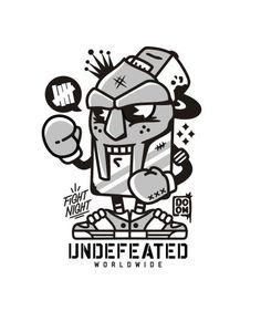 UNDFTD x MF DOOM T-shirt by Oleg Gontarev, via Behance