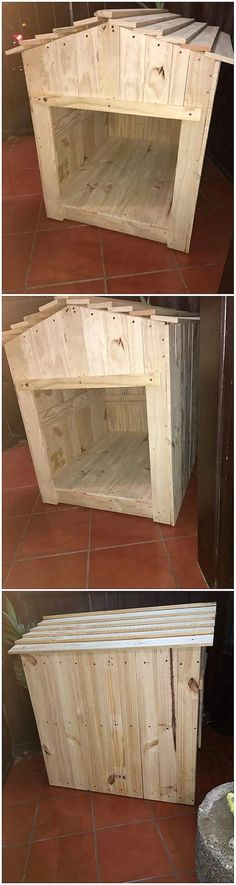 This creation of the wood pallet bring you closer to the innovative design of the pallet pet house. It is much high in terms of the height involvement so probably you can make its perfect use for the pet seating arrangement. So are you ready to try with this beautiful creation of wood pallet?