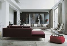 26 Ideas To Accentuate Your Living Room With Marsala | DigsDigs