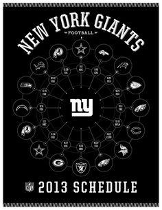 New York Giants 2013 Schedule