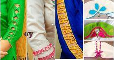 Beautiful sleeves designs in very easy way Neck Designs For Suits, Sleeves Designs For Dresses, Blouse Neck Designs, Sleeve Designs, Blouse Patterns, Dress Designs, Churidar Designs, Kurta Designs Women, Kurti Sleeves Design