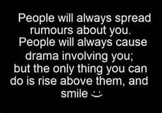 Jealousy Quotes : QUOTATION – Image : Quotes Of the day – Description Jealousy Quotes: rise above and smile life quotes quotes quote life quote Sharing is Power – Don't forget to share this quote ! Favorite Quotes, Best Quotes, Funny Quotes, Quotable Quotes, Quotes Quotes, Random Quotes, True Quotes, Positive Quotes, Hater Quotes