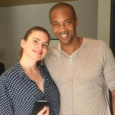 #Deathlok has been known to time travel so you never know... || Hayley Atwell, J August Richards || Instagram || #cast