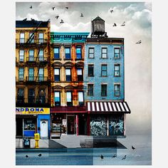 Tim Jarosz: Cityscapes On Sheet Metal - NYC Street Triptych 3/3 20x24, $89, now featured on Fab.