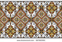 embroidered good like handmade cross-stitch ethnic Ukraine pattern Border Embroidery Designs, Folk Embroidery, Embroidery Patterns, Quilt Patterns, Cross Stitch Sampler Patterns, Cross Stitch Samplers, Grid Design, Beading Patterns, Blackwork