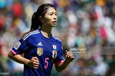 Aya Sameshima #5 of Japan in action during the FIFA Women's World Cup Canada 2015 quarter final match between Japan and Australia at Commonwealth Stadium on June 27, 2015 in Edmonton, Alberta, Canada.