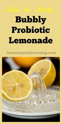 """Who doesn't love a refreshing, cold glass of lemonade on a hot day? It practically says """"summer"""". Ferment that lemonade and you've added an entire new dimension to it - probiotics and some fizz. Probiotic Drinks, Best Probiotic, Fruit Drinks, Healthy Drinks, Beverages, Drinks Alcohol, Cold Drinks, Juice Smoothie, Smoothies"""
