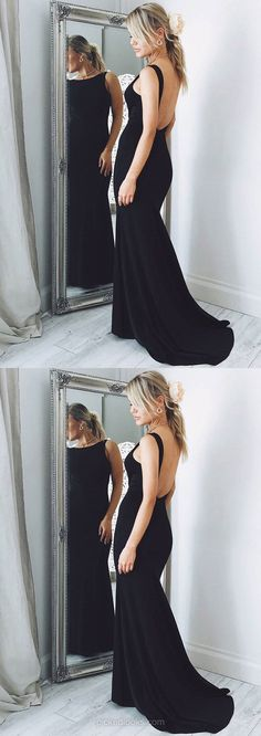Black Prom Dresses, Long Prom Dresses, 2018 Prom Dresses For Teens, Trumpet/Mermaid Prom Dresses Scoop Neck, Silk-like Satin Prom Dresses For Girls Senior Prom Dresses, Prom Girl Dresses, Prom Dresses For Teens, Best Prom Dresses, Black Prom Dresses, Beautiful Prom Dresses, Mermaid Prom Dresses, Formal Evening Dresses, Prom Gowns