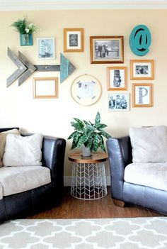 Break The Grid And Organize The Photos And Decor On Your Wall In An  Asymmetrical Pattern