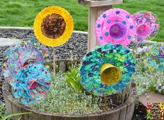 Plastic Plate Flowers & Plastic Plate Flowers | Pinterest | Plastic plates Flower and Craft