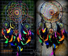 Night Fury Dream Catchers....I would make mine black, green, orange
