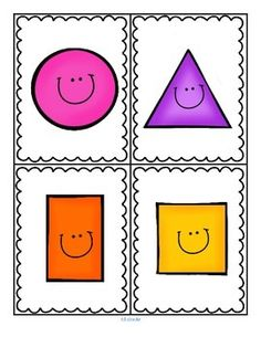 ***FREE***  My First Shapes - 10 shapes, 23 pages. Included: • Flashcards with faces (color) • Flashcards plain (b/w) • Stand-up character shapes (color and b/w) • Full page posters (color)