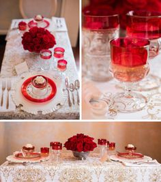 love using King's crown for a valentines table setting