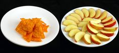 See what 200 calories looks like: Doritos (41 grams) vs Apples (385 grams)