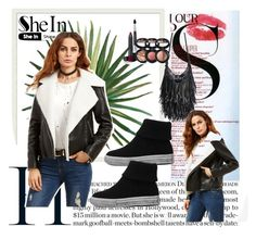 """SheIn 6"" by dinka1-749 ❤ liked on Polyvore featuring MAC Cosmetics, Pottery Barn and Laura Geller"