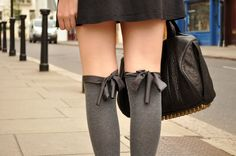 thigh high socks with ribbons . via the blonde salad