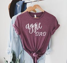 Aggie Dad Shirt - Gig Em Shirt - Texas A&M Shirt - Texas Tee - Gig Em - Aggie Pride - Texas AM University - TAMU - Texas Shirt 👉 Visit my profile for the product link 👉 Or visit Etsy and search 🔍 TDesignstx ❤ Thank you for shopping with us ❤