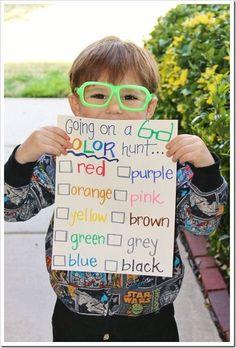 Color Hunt!!! Fun activity for beginning of school via @ThePoeFam