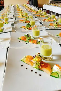 The Flying Chefs Gourmet Catering conjures the perfect food for your wedding Gourmet Catering, Chef Gourmet, Gourmet Food Plating, Gourmet Recipes, Appetizer Recipes, Cooking Recipes, Catering Ideas, Gourmet Appetizers, Catering Events