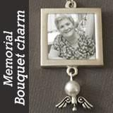 Guardian Angel Wings Memorial Photo Wedding Bouquet Charm Ez Change: This special memorial charm lets you walk down the aisle with your guardian angel. Includes square silver photo charm with slide-in photo area, and dangling angel wing charm. Wedding Bouquet Charms, Flower Bouquet Wedding, Angel Wings Pictures, Wedding Angels, Bridal Alterations, Jewelry Making Kits, Wedding Photography Tips, Photography Ideas, Brooch Bouquets