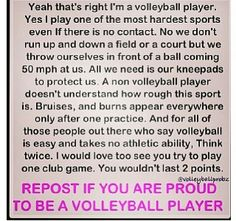 This is awesome! I hate when people say volleyball is easy!