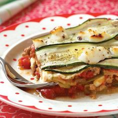 Citizens of Casseroleville, bow in the presence of the king of all baked dishes! This recipe gets two thumbs-up not only for being gluten-free, but also for allowing you to keep your blood sugar in check. By replacing lasagna noodles with thin layers of sliced zucchini, the carbs stay low, but the flavor is still full and zesty. We suggest using a mandoline for even slices and quick prep. Just be careful—those things are sharp!