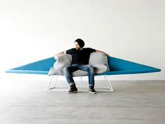 Space-saving sofa... I call it 'tri-force'!