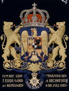 """ 1936 Archduke Friedrich of Austria died, a Knight of the Seraphim. Ferdinand, Michael I Of Romania, Von Hohenzollern, Elisabeth I, Peles Castle, Transylvania Romania, Bucharest Romania, Family Crest, Coat Of Arms"
