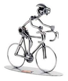 'CYCLIST' METAL SCULPTURE