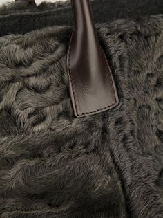 BRUNELLO CUCINELLI - furry tote bag 11 . dark green .  http://www.farfetch.com/shopping/women/brunello-cucinelli-furry-tote-bag-item-10528598.aspx