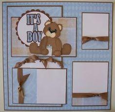 baby boys scrapbook page | Baby Boy Scrapbook Page - Creative Kuts