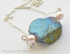 Silver Chain Pearl Crystal Quartz Necklace by ShopSparkleMotion  https://www.etsy.com/uk/listing/188802756/silver-chain-pearl-crystal-quartz?ref=shop_home_active_20